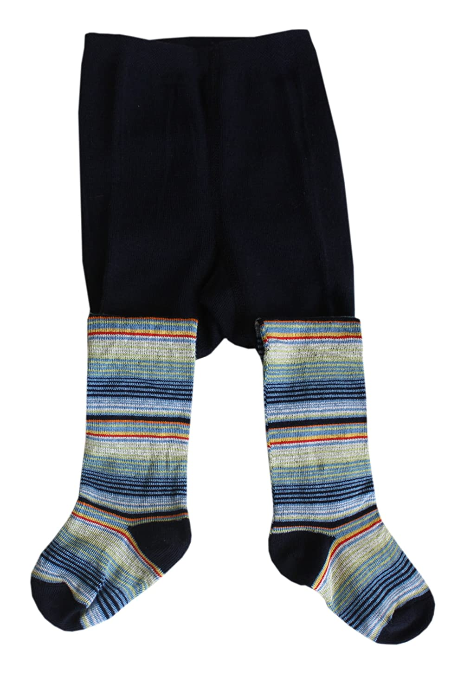 Weri Spezials Calzamaglia per Neonati e Bambini, Colore:Marine, Taglia: 74 cm (9-12 mesi), Striscia classica