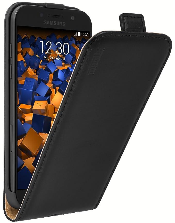 mumbi PREMIUM Leder Flip Case für Samsung Galaxy A5 (2017) Tasche