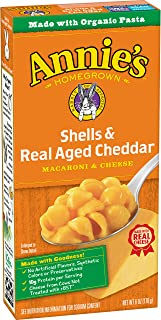 product image for Annie's Macaroni & Cheese, Shells & Real Aged Cheddar, 6 oz