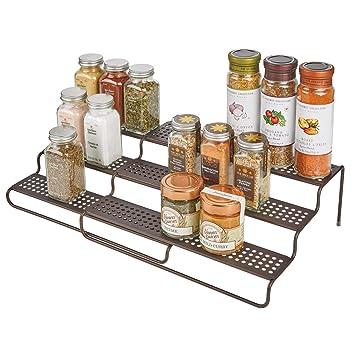 Amazon.de: mDesign Gewürzregal für Küchenschrank - ausziehbares ...