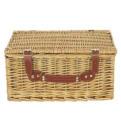 Amazon.com: RX-789 - Cesta de mimbre para picnic con ...