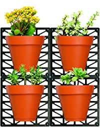Amazon vertical wall planters patio lawn garden wall ideaworks wall mount planter set decorate wall with real plants includes 4 wall workwithnaturefo