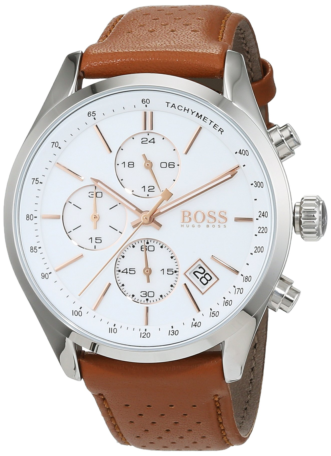 Hugo Boss Grand Prix Chronograph 1513475 Brown Men's Quartz Watch