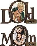 "Malden International Bronze Metal ""DAD"" And ""MOM"" Picture Frame, Set of 2"