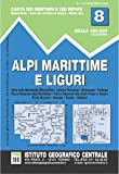 Carta n. 8 Alpi Marittime e Liguri 1:50.000. Carta dei sentieri e dei rifugi
