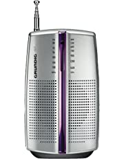 Grundig City BOY 31 PR3201 - Radio portátil (2 x AAA, AM/FM), color plateado