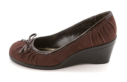 Style Co. Womens Lenore Round Toe 6.5 Wedge Pumps Brown Size 6.5 Toe 9bcab9