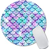 IMAYONDIA Mouse Pad, Kawaii Blue Mermaid Scales Mouse Pad Personalized Design, Small Size Non-Slip Rubber Mouse Pads for Comp