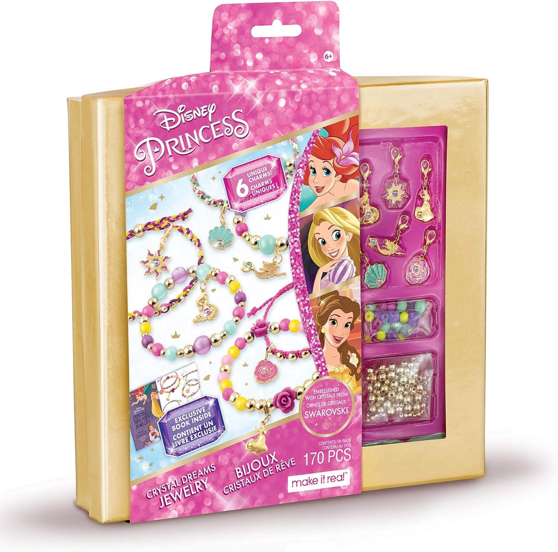 Make It Real - Disney Princess Crystal Dreams Jewelry - DIY Bead & Charm  Bracelet Making Kit - Includes Jewelry Making Supplies, Charms with  Swarovski ...
