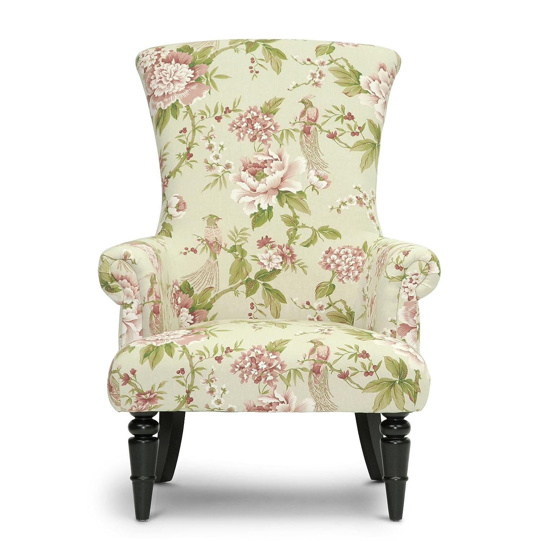 Amazon.com: Baxton Studio Kimmett Linen Floral Accent Chair, Beige/Pink:  Kitchen U0026 Dining