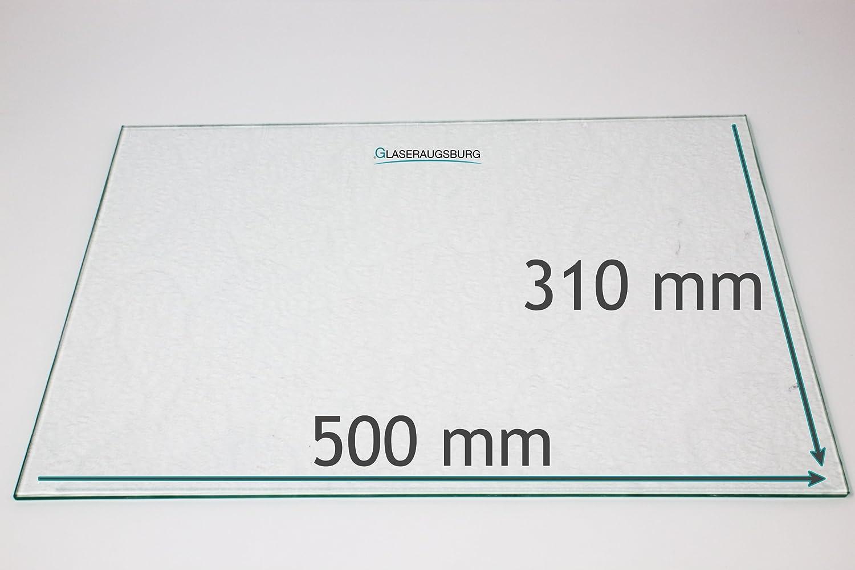 K/ühlschrank Einlegeboden//Glasplatte//Gem/üsefach Strukturglas 4 mm dick Direkt vom Glasereifachbetrieb!!! 450 mm x 305 mm
