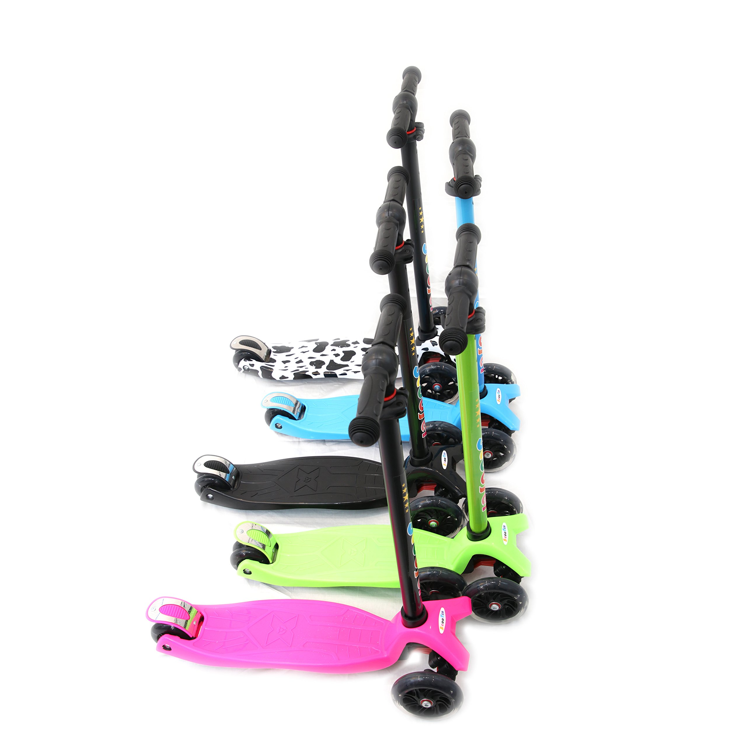 3 Wheel Kick Scooter. For Kids 2-12 Years, Premium Aluminum, Adjustable Height, PU Wheel with LED Rear Lights. 4 Years Warranty. 5 colors (Pink + Bonus Book Children)