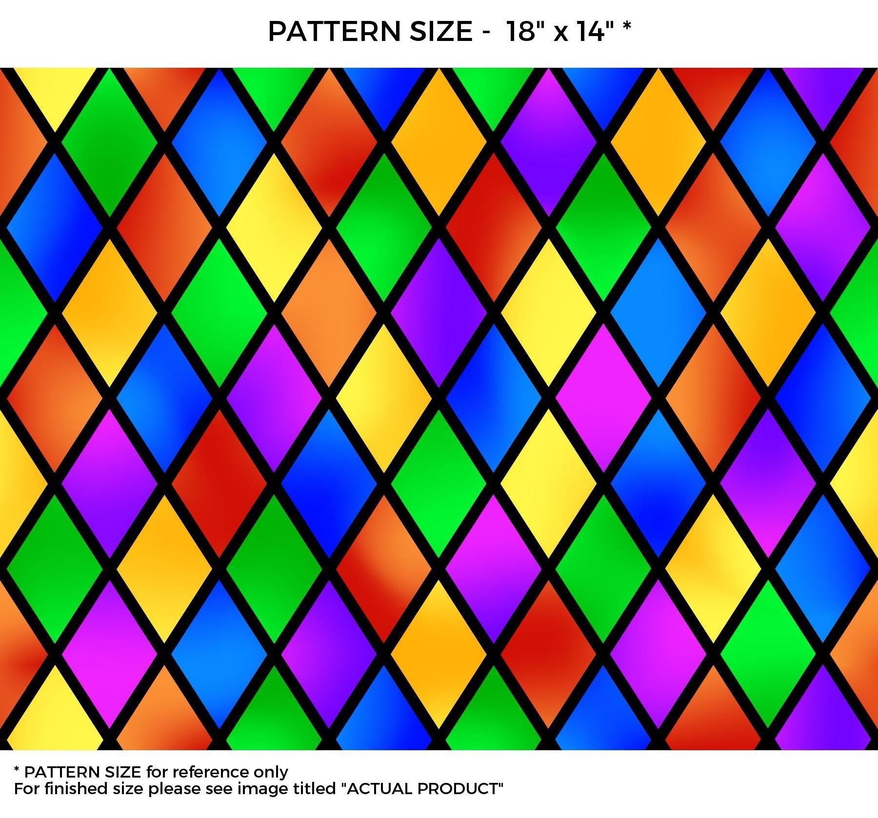 WindowPix 42 x 96 Diamond Carnival Pattern Window Film Static Cling Film UV Filtering Energy Saving