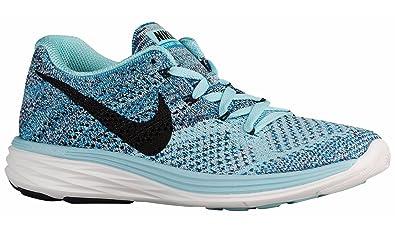 new arrival 02e92 3a94b Nike Women s Flyknit Lunar3 Running Shoe (9 B(M) US, Blue