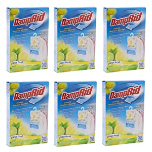 DampRid Hanging Moisture Absorber - Citrus Fresh Bag, 14Oz (6 pack)