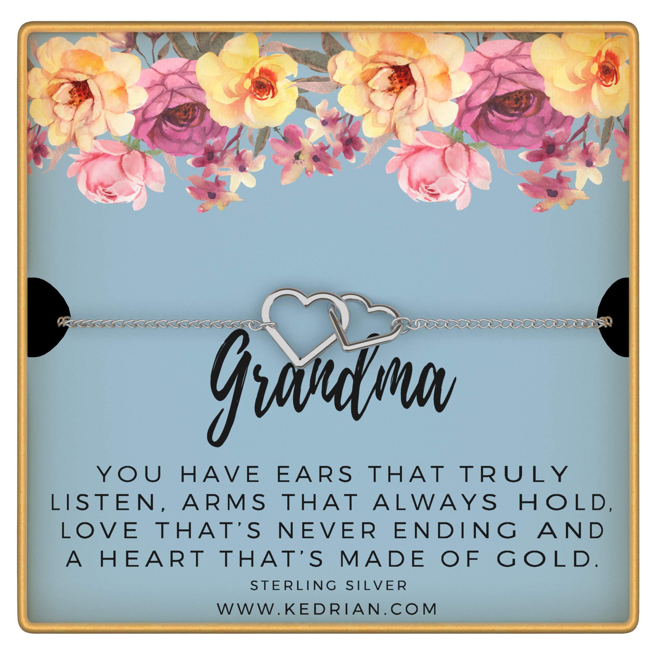 KEDRIAN Grandma Bracelet, 925 Sterling Silver, Best Grandma Gifts For Women, Gifts For Grandma, New Grandma Gifts, Gift For Grandma, Grandma Birthday Gift Bracelet, Mother's Day Gifts For Nana by KEDRIAN