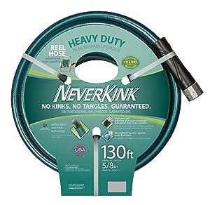 Teknor Apex 100519523 Neverkink 8615-130,Heavy Duty Hose Reel Garden Hose, 5/8-Inch by 130-Feet