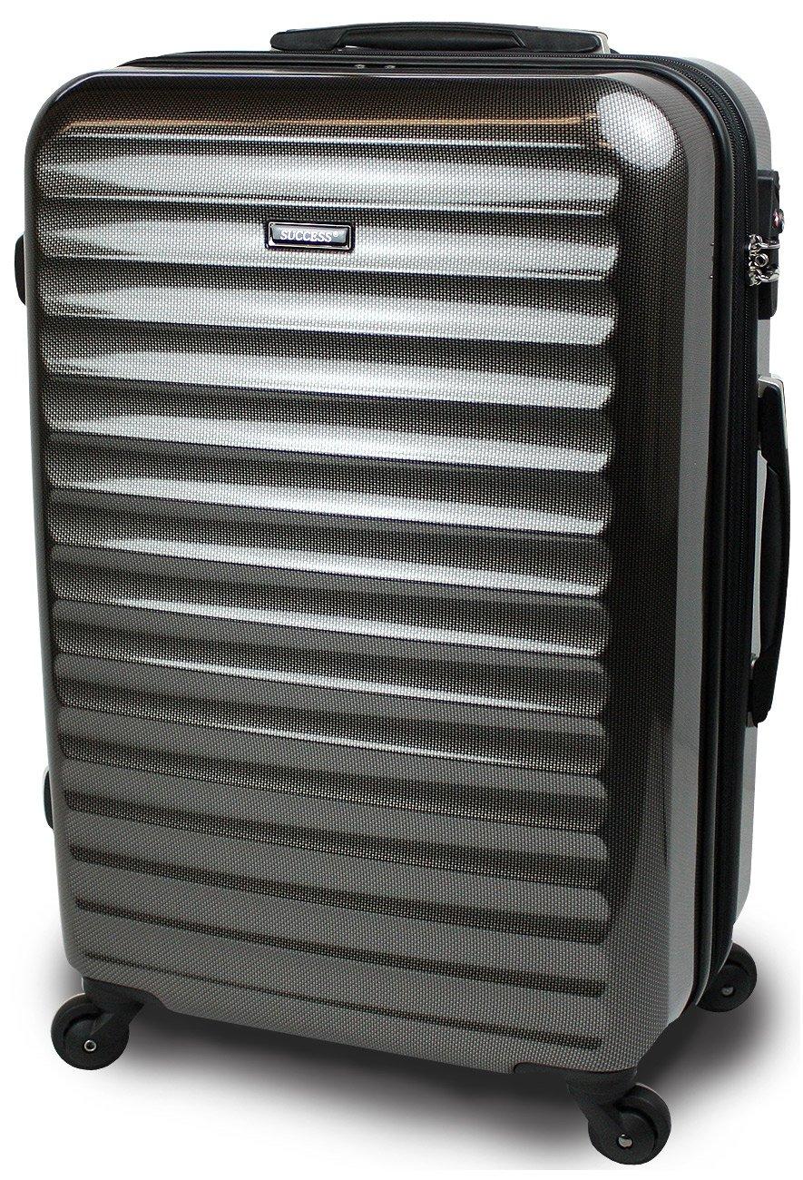 スーツケース 3サイズ( 大型  中型  小型 ) 超軽量 キャリーバッグ TSAロック 【 ヴィアーノ2020 ダブルファスナーモデル 】 鏡面ミラー加工 B071GTYYDW 小型 SSサイズ 51cm 1~3泊用|カーボンブラック カーボンブラック 小型 SSサイズ 51cm 1~3泊用