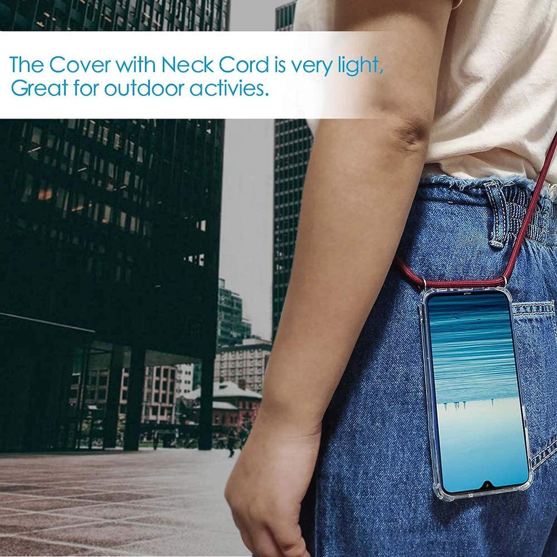 Funda con Cuerda para Samsung Galaxy J3 2016//J310,Moda y Practico Carcasa de TPU Mate Case Cover con Colgante//Cadena,Negro