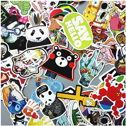 300 Random Skateboard Stickers Vinyl Laptop Luggage Decals Dope Sticker Lot Mix