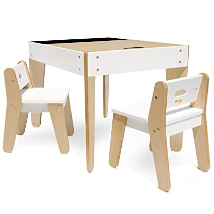 Fantastic Pkolino Little Modern Tables And Chairs White Amazon Co Uk Creativecarmelina Interior Chair Design Creativecarmelinacom