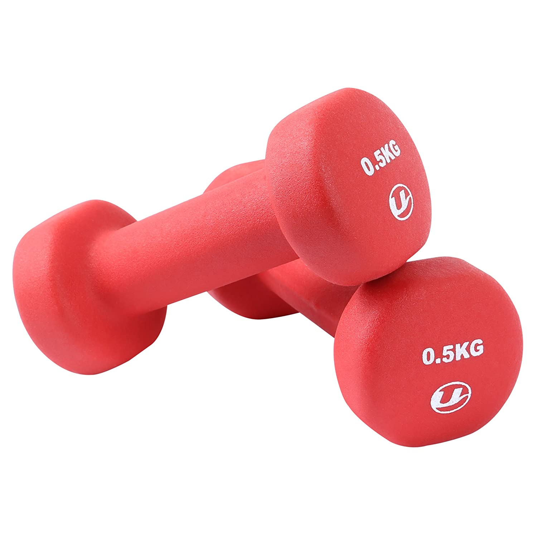 Ultrasport - Pesas gimnásticas de goma, 2 x 4 kg: Amazon.es ...