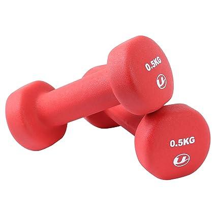 Ultrasport 331100000029 - Pesas gimnásticas de goma, 2 x 1.5 kg ...