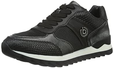 1b4246fd76e Bugatti Women s J8203PR6N6 Low-Top Sneakers Black Size  8  Amazon.co ...