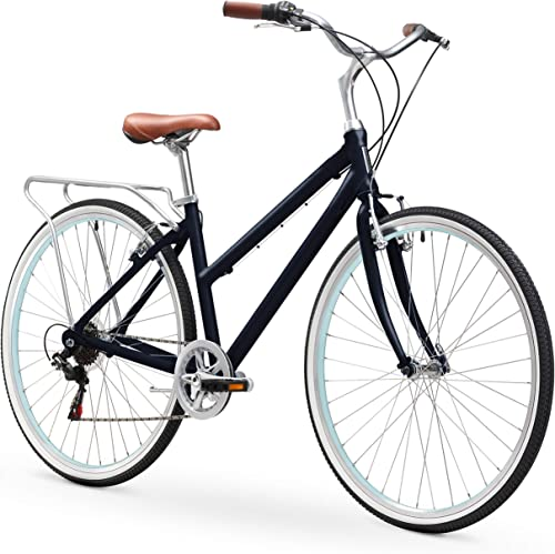 sixthreezero Explore Your Range Women's Hybrid Commuter Bicycle with Rear Rack