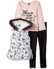 Calvin Klein Conjunto de Chaleco de 3 Piezas para niñas