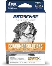 Pro-Sense Dog Dewormer Solutions Safe-Guard 3 Day Treatment, 3 ct