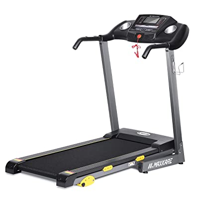 MaxKare Folding Treadmill Electric Motorized Running Machine 17'' Wide Tread Belt w/Incline LCD Display and Cup Holder Easy Assembly