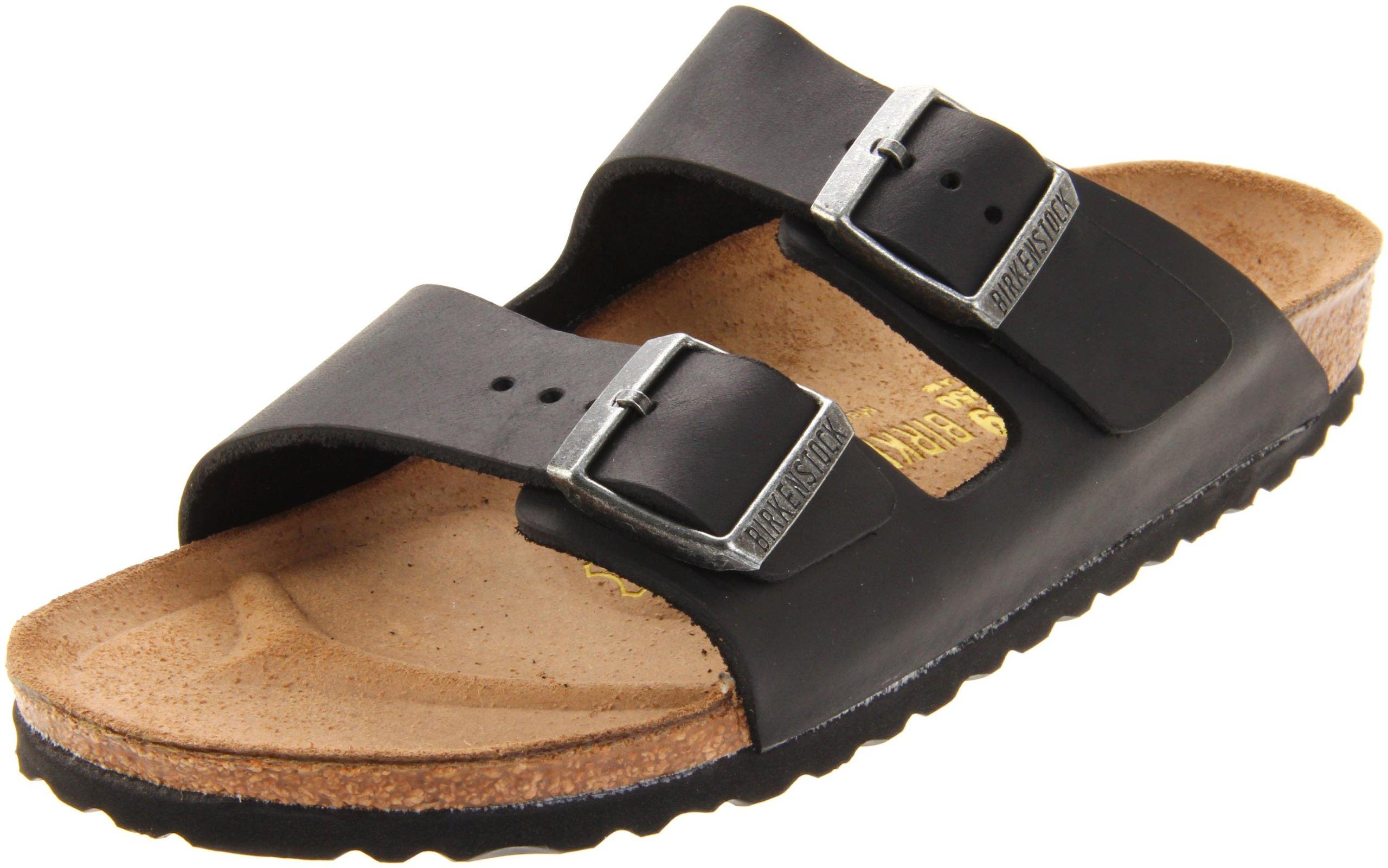 Birkenstock Arizona Black Oiled Leather Sandal 37 N (US Women's 6-6.5)