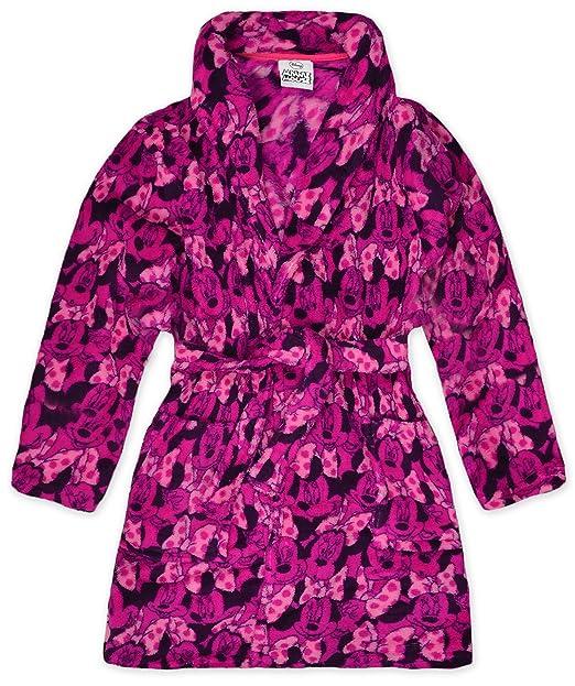 Girls Disney Minnie Mouse Dressing Gown Kids Nightwear Robe: Amazon ...