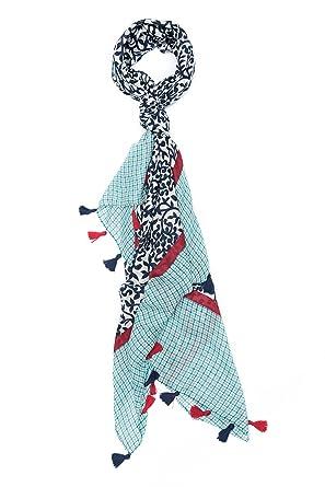 05491ae81148 ColmagBoutique Grand Foulard Femme Multicolore Echarpe Mousseline Effet Lin  (Multicolore) (Multicolore) (