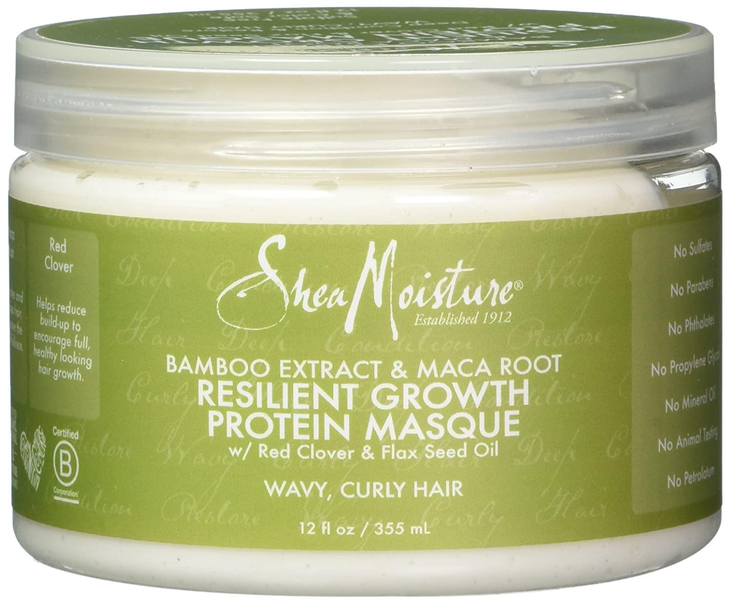 Shea Moisture Bamboo Extract & Maca Root Resilient Growth Protein Masque for Unisex, 12 Ounce PerfumeWorldWide Inc. Drop Ship U-HC-12202