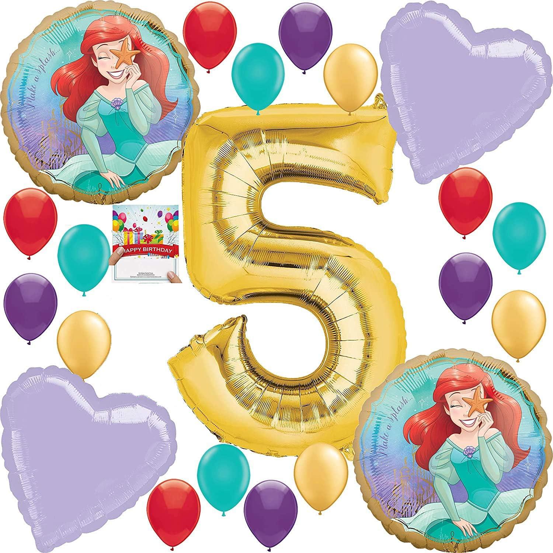 Ariel Little Mermaid Disney Princess Undersea 3rd BIRTHDAY PARTY Balloon decorations supplies NEW