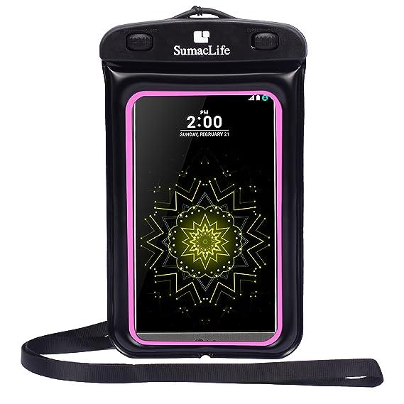 los angeles 50bef 116ae Sumaclife Water-Resistant Pouch Bag Waterproof Case for Motorola Moto G4  Plus/LG G5 / BLU R1 HD/BLU Neo XL/Life XL/BLU Studio 5.5 HD/One Plus 3 /  HTC ...