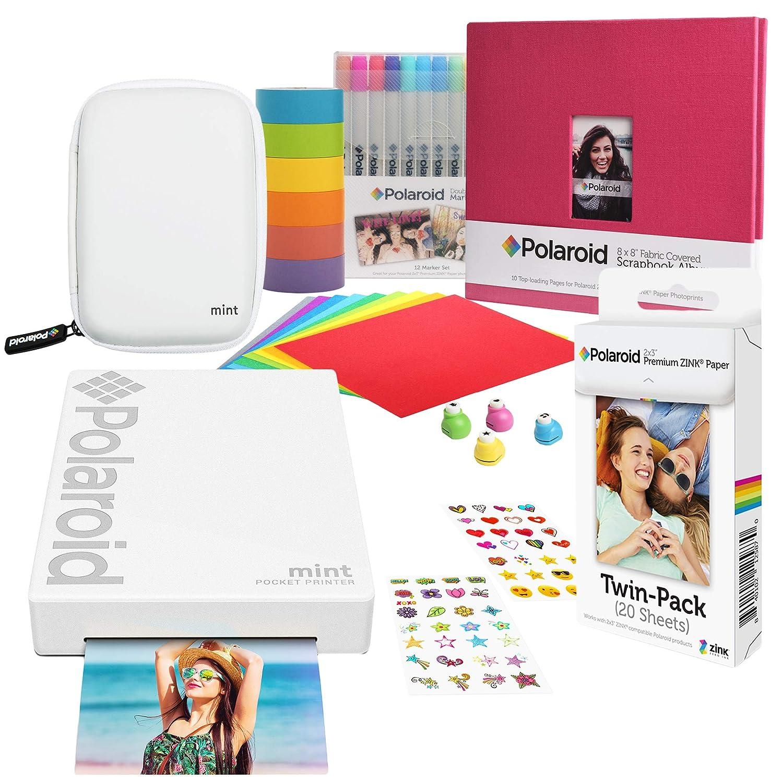 Polaroid Mint Impresora de Bolsillo Inalámbrica (Blanco ...