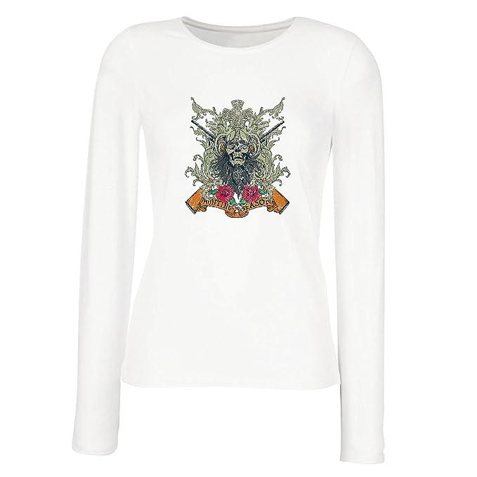 lepni.me Camisetas de Manga Larga para Mujer Ropa de Temporada de Caza - Caza de venado o Pato, Ropa de Cazador: Amazon.es: Ropa y accesorios
