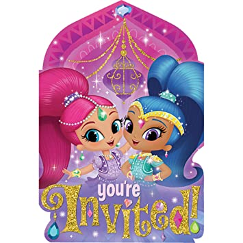 Amazon Com Nickelodeon Shimmer And Shine Birthday Party Invitations