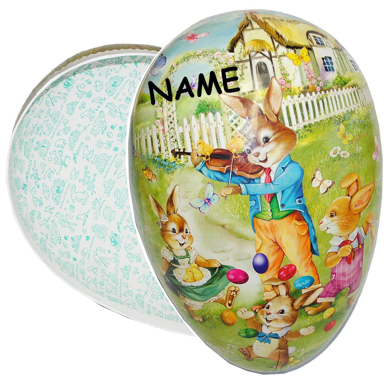 Alles-meine  GmbH 3 Stück _ XXL - - - Pappei zum Befüllen - 36 cm -  Hase mit Geige   Violine  - Osterei   Ei zum Befüllen - Papposterei - Deko Pappe Papp - Dekoei Pappostereier .. B07QBNKZXZ Ostern c6d0fe