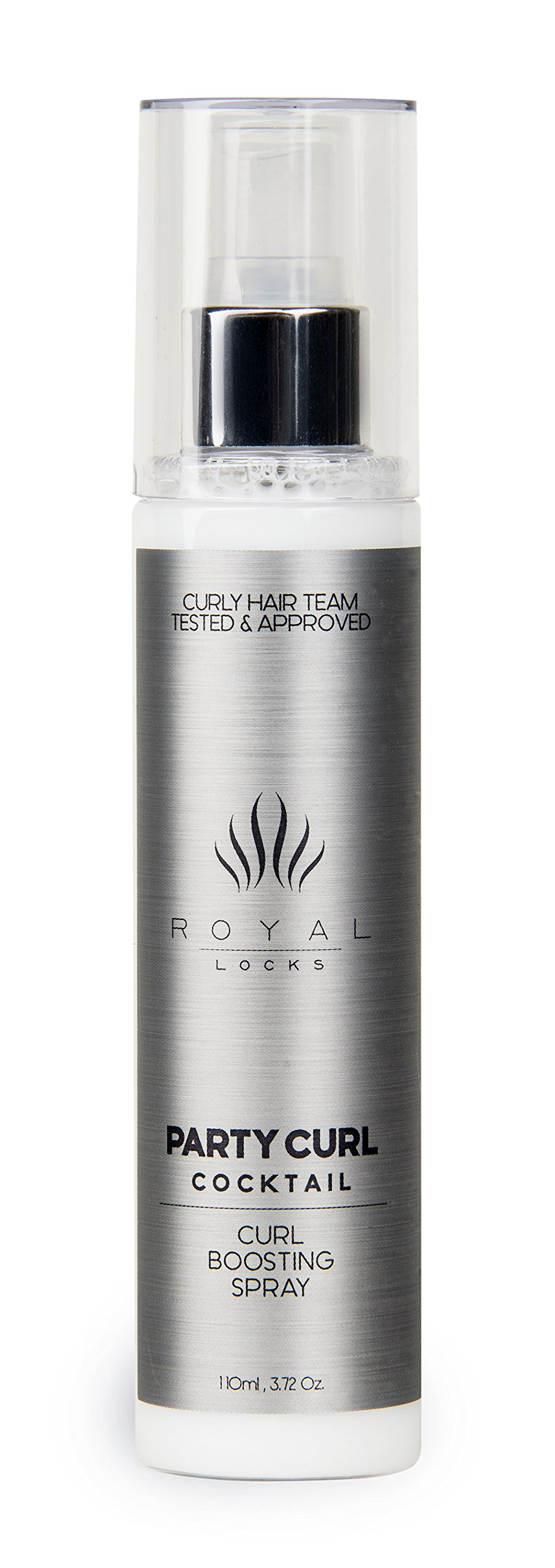 Curly Hair Recharging and Enhancing Curl Spray Party Curl Cocktail by Royal Locks. Defined and Moisturized Curls Without Build Up . Argan Oil Infused, UV and Thermal Protection