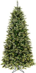 Vickerman 75' Unlit Cashmere Slim Artificial Christmas Tree