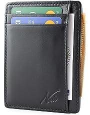 692e779638 Portafoglio Uomo Piccolo Sottile NUCCI DESIGN Mini Porta Carte Credito-Vera  Pelle Protezione RFID-