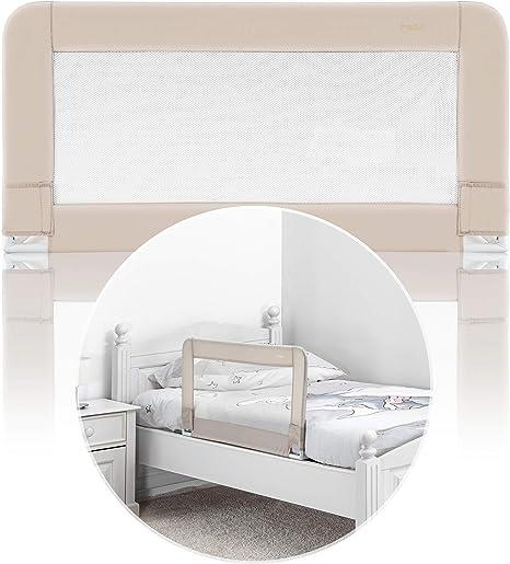 Reer 45087 Sleepn Keep - Barrera de Seguridad para Cama (100 cm), Color Beige: Amazon.es: Bebé