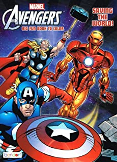 Amazon.com: Marvel Avengers Coloring Book with 6 Avengers Masks (Pop ...