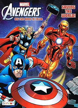 marvel the mighty avengers coloring book saving the world big fun - Avengers Coloring Book