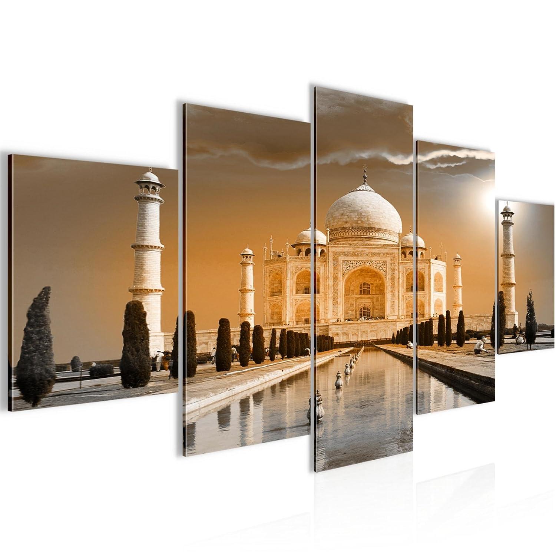 Wanddeko Bild Bilder Wandbild XXL Taj Mahal Indien Kunstdruck Leinwand Vlies