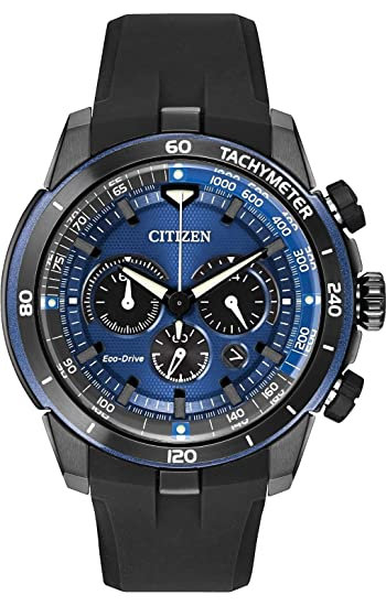 32f0a333a75f15 Citizen #CA4155-12L Men's Eco Drive Ecosphere PU Band Chronograph Sports  Watch: Amazon.ca: Watches